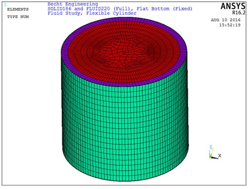 Fluid-Structure Interaction Under Seismic Loading Using Finite Element Analysis