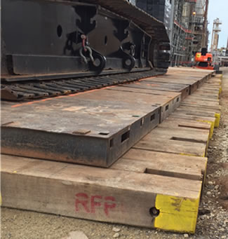 Crane Mats Of The Future Timber Composite Or Steel