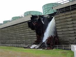 cooling tower partial collapse