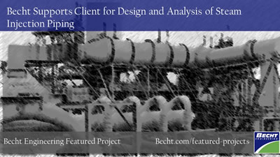 Design and Analysis of Steam Injection Piping