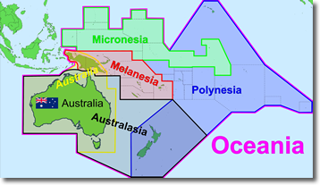 becht in oceania