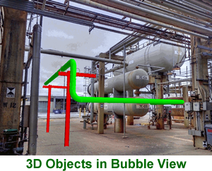 3d piping bubble view